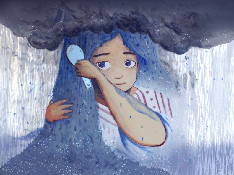 The Girl who had rain for hair